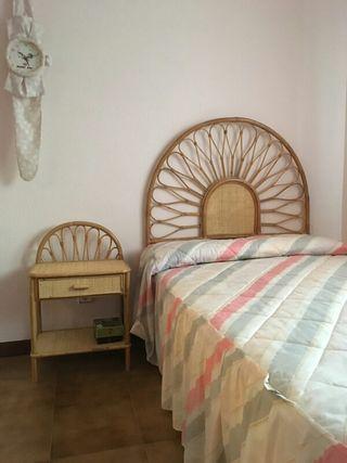 habitación de mimbre