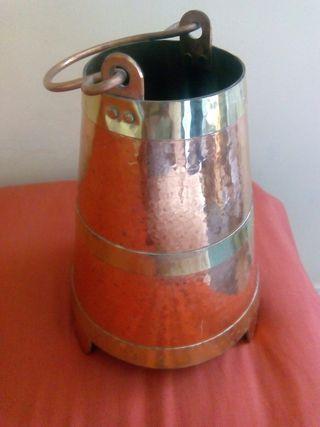 Cántaro balde cobre