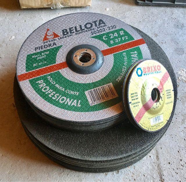 Lote discos piedra Bellota