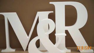 Letras bodas y eventos