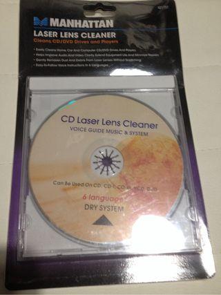 Limpiador de lentes CD/DVD