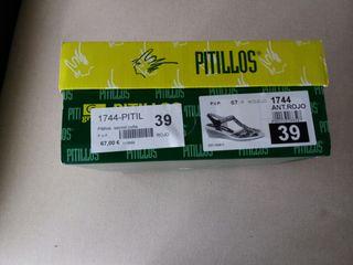 Num € En Segunda Zapato Sandalias 35 De Mano Por Pitillos 39 Rojo RjqL53A4