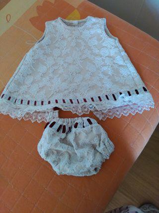vestido marca el sastre de los infantes talla 12 m