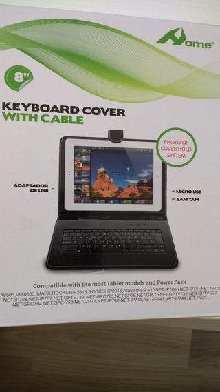 funda tablet con teclado