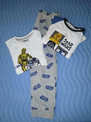 Pijama niño star wors!!!!3piezas