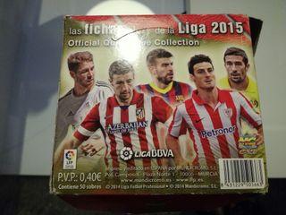 caja completa d cromos fichas de la liga 2014 2015