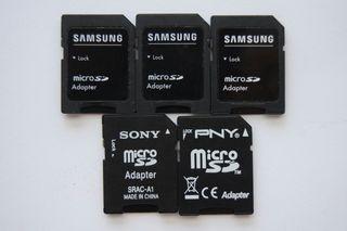 Adaptador de tarjetas Micro SD.