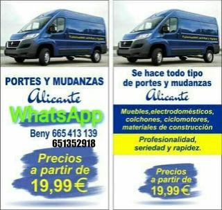 Portes Wallapop y mudanzas Alicante...