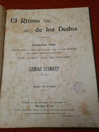 libro de musica de 1901