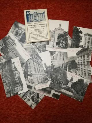20 postales antiguas colegio n. sra de la Bonanova