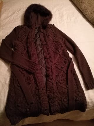 Chaquetón lana forrado Talla L