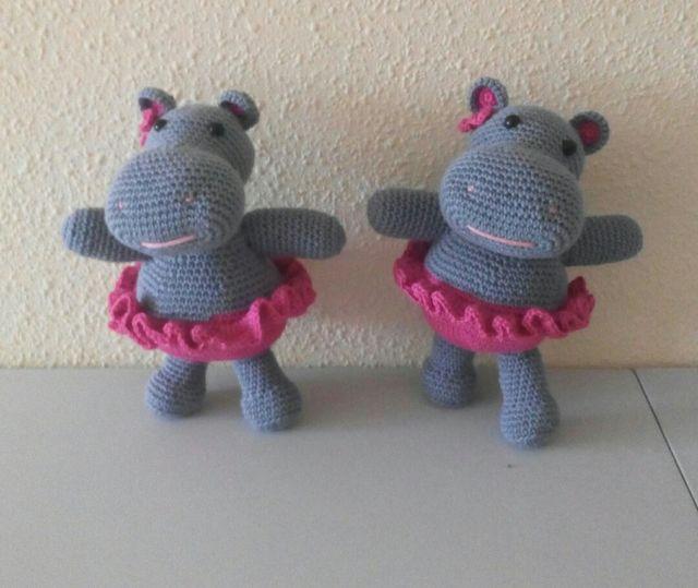 hipopotamo amigurumi
