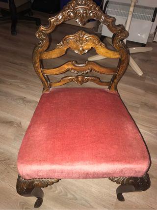 Silla estilo Luis XV original