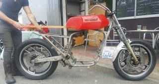 horquilla moto cafe racer scrambel custom