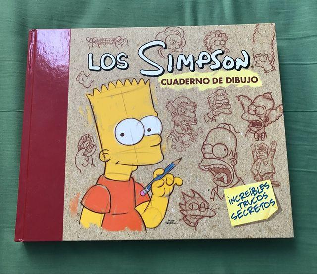 Libro dibujo de Los Simpson
