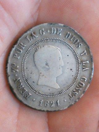 10 reales Fernando VII año 1821