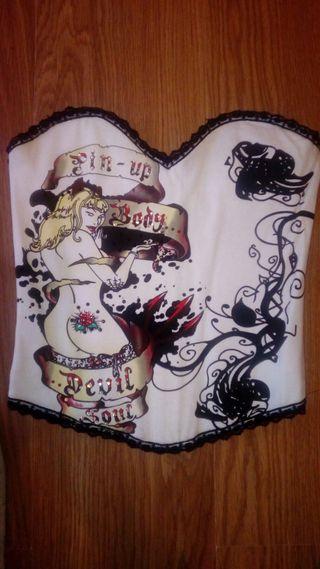 corset corpiño tattoo