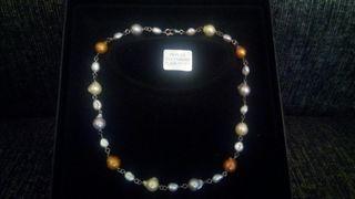 Collar de plata y perlas
