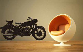 vinilo decorativo moto vintage clasica