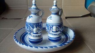 Juego Aceitera ceramica