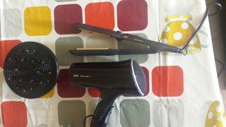 secador y plancha de pelo BRAUN