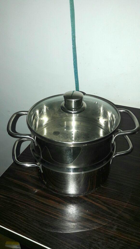 Juego de ollas para cocinar al vapor a estrenar de segunda - Hoya para cocinar ...