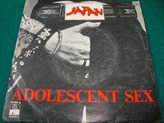 "JAPAN.- A DOLESCENT SEX- SINGLE VINILO 7""."