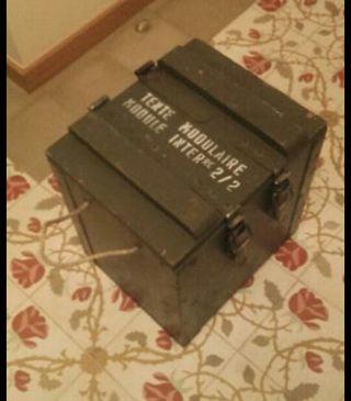 Caja militar de madera de segunda mano por 50 en barcelona en wallapop - Cajas madera barcelona ...