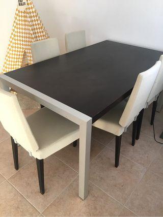 Mesa comedor con 6 sillas de segunda mano por 170 en l 39 eliana en wallapop - Wallapop mesa comedor ...