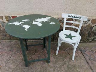 Mesa y silla de segunda mano por 70 en toledo wallapop for Wallapop mesas