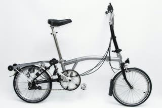 Bicicleta plegable Brompton gris 3v