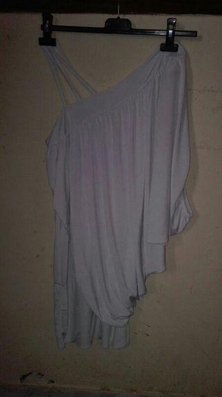 vestido blanco corto boutique