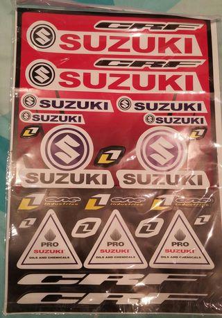 Pliego pegatinas Suzuki