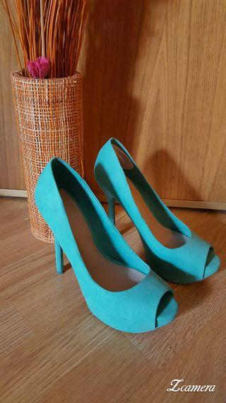 Zapatos plataforma bershka.Usados un par de veces
