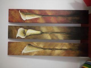 Cuadros muy grandes triptico 150x25 cm