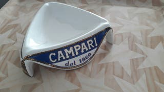 cenicero campari original vintage de porcelana