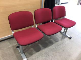 Silla triple sala de espera