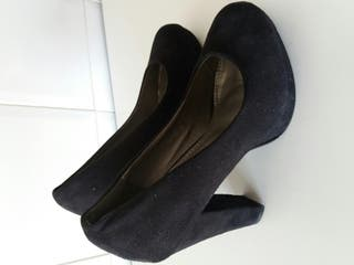 Zapatos de ante negros N 38