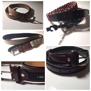 5 cinturones variados