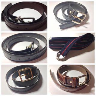 6 cinturones variados