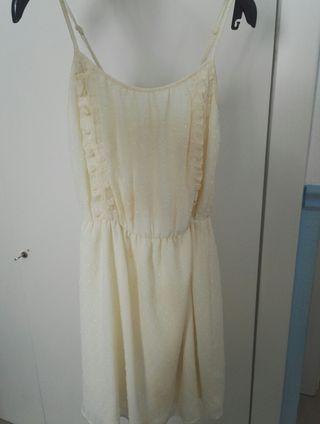 vestido beig