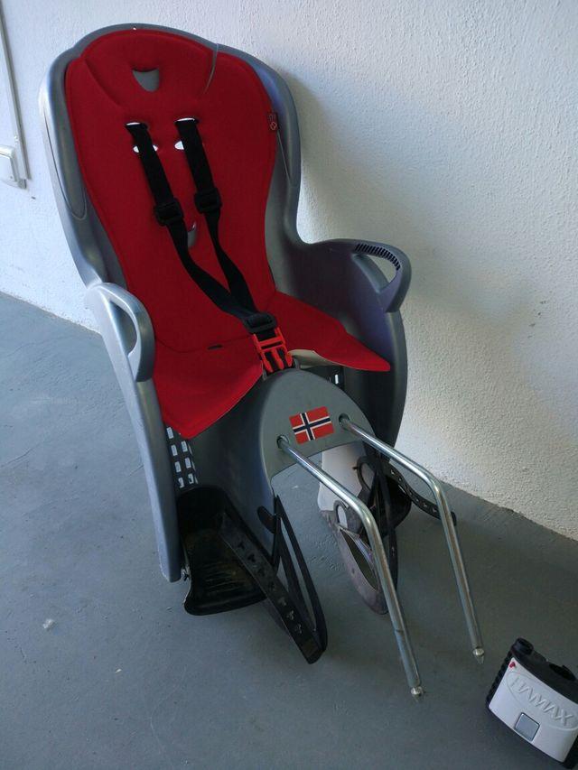 Silla portabebés bicicleta