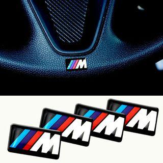 Logo emblema M BMW volante llantas interior...