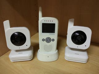 Kit 2 cámaras vigila bebé + intercomunicador RIMAX