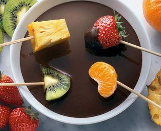 Fondue chocolate / queso