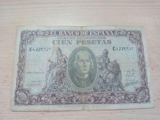 100 pesetas 1940