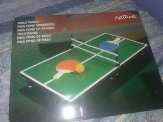 mini mesa de pin-pon