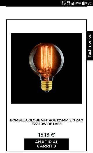 """bombillas globo """"LAES"""" vintage en zigzag 95mm clar"""