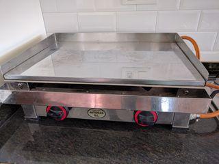 Plancha industrial de cocina de gas de cromo duro de segunda mano por 550 en ayora en wallapop - Planchas de cocina industriales de segunda mano ...