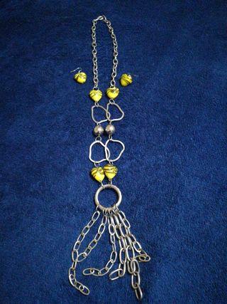 Conjunto collar+pendientes